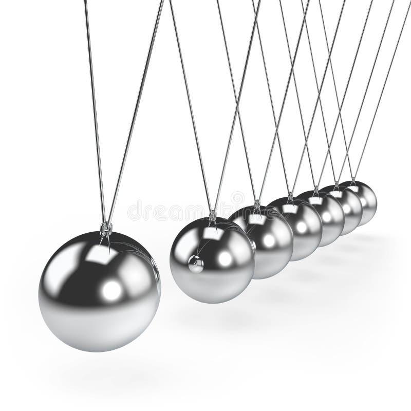 平衡的球牛顿` s摇篮摆锤 皇族释放例证