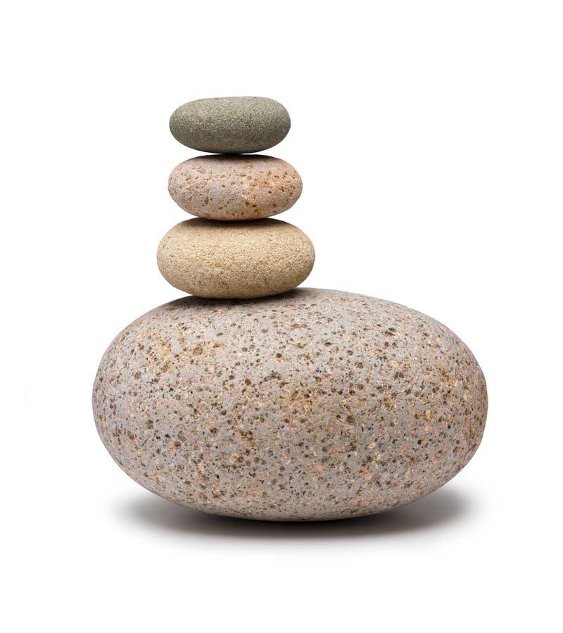 平衡的被堆积的石头 库存图片