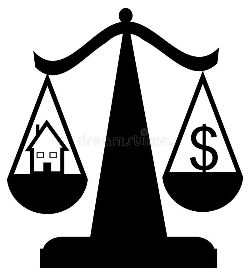 平衡的费用住房 皇族释放例证