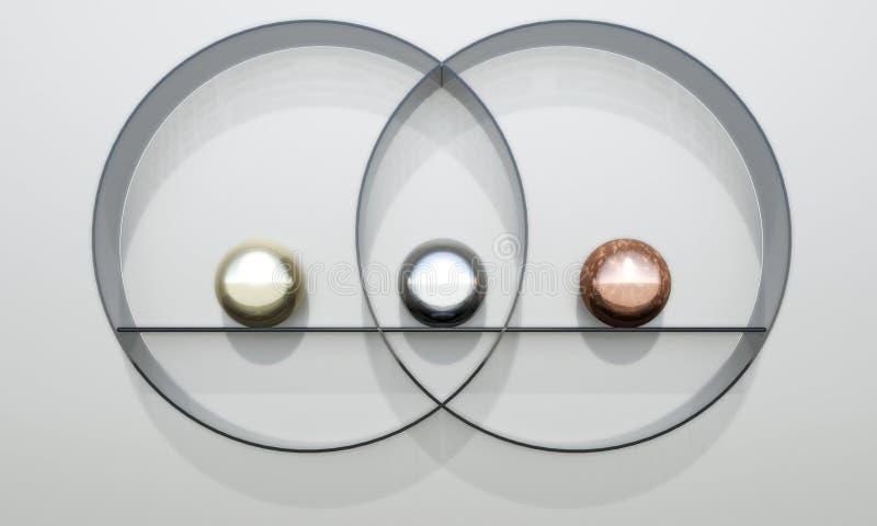 平衡的静物画 库存例证