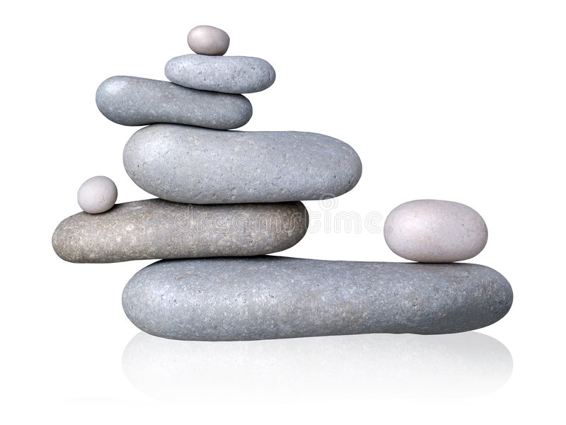 平衡石头 免版税库存图片