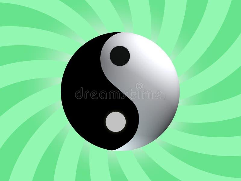 平衡符号杨yin 库存例证