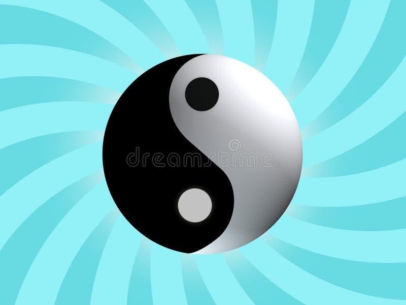 平衡符号杨yin 皇族释放例证