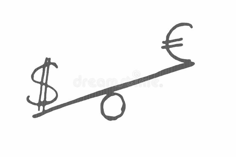 平衡经济世界 免版税库存照片