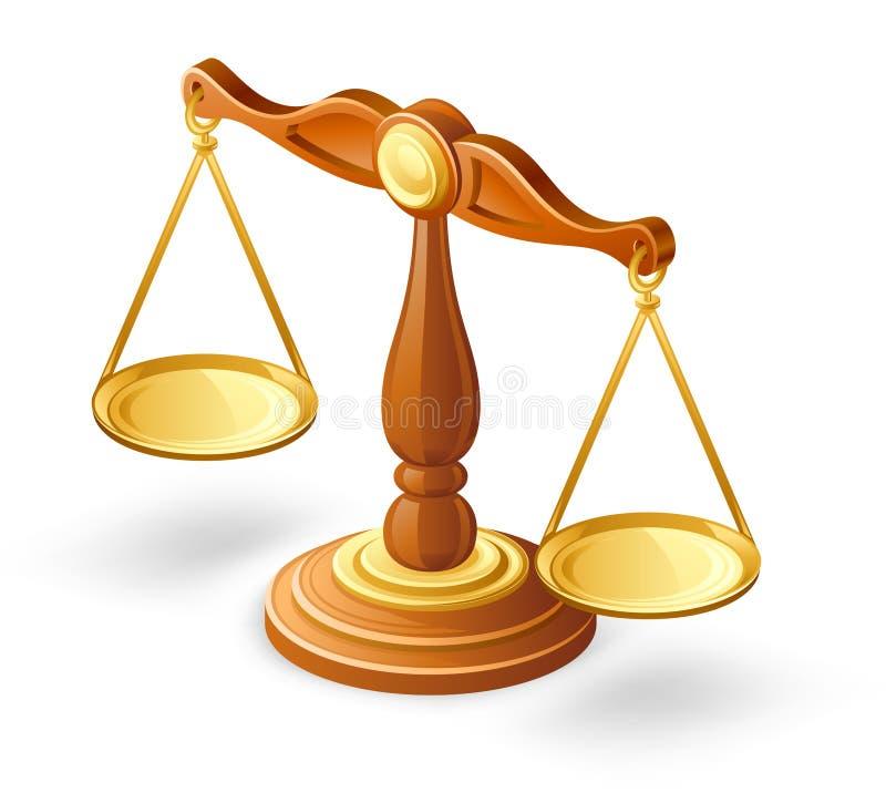 平衡缩放比例 皇族释放例证