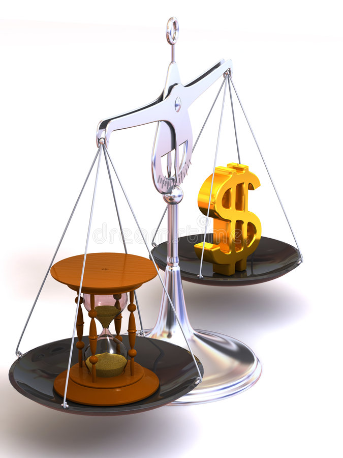 平衡货币时间 皇族释放例证