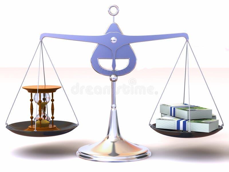 平衡货币时间 向量例证