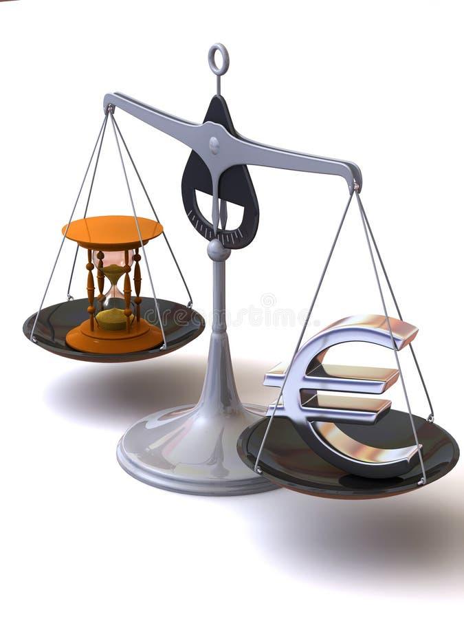 平衡货币时间 库存例证