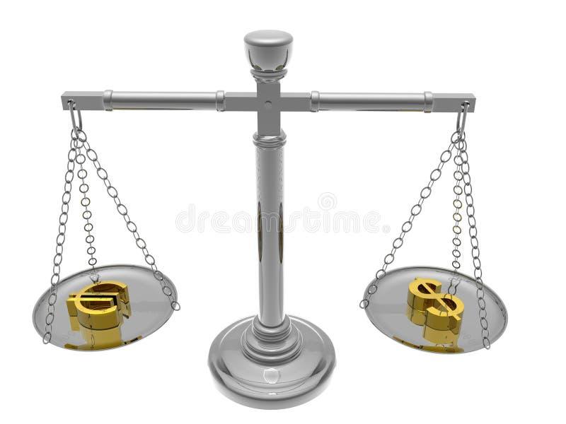 平衡货币 皇族释放例证