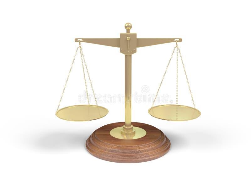 平衡金黄查出的白色 向量例证