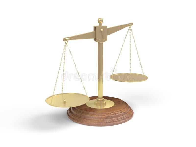 平衡金黄查出的白色 皇族释放例证