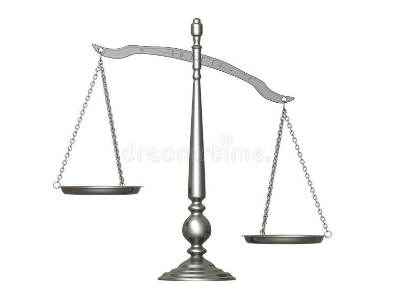 平衡银 库存例证