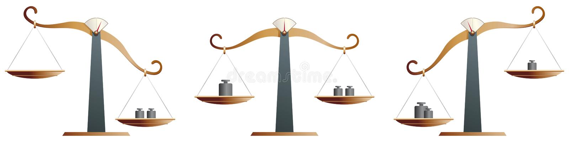 平衡黄铜缩放比例 皇族释放例证