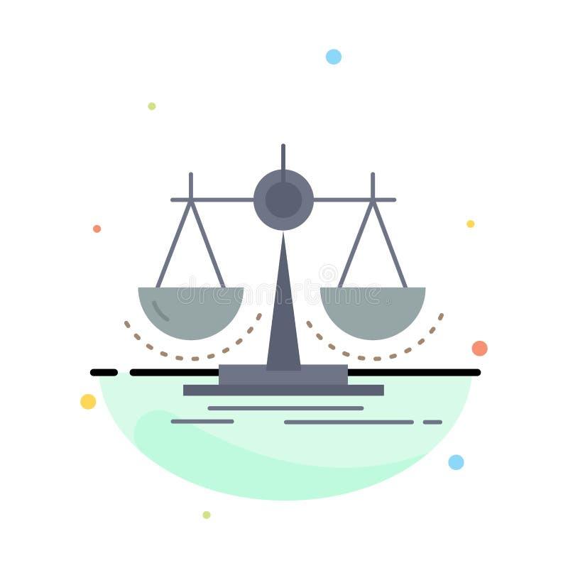 平衡,决定,正义,法律,标度平的颜色象传染媒介 皇族释放例证