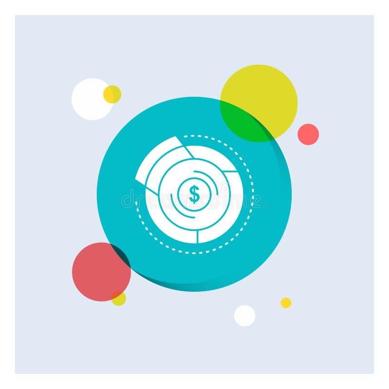 平衡,预算,图,财政,图表白色纵的沟纹象五颜六色的圈子背景 向量例证