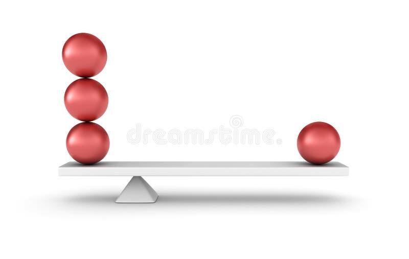平衡 库存例证