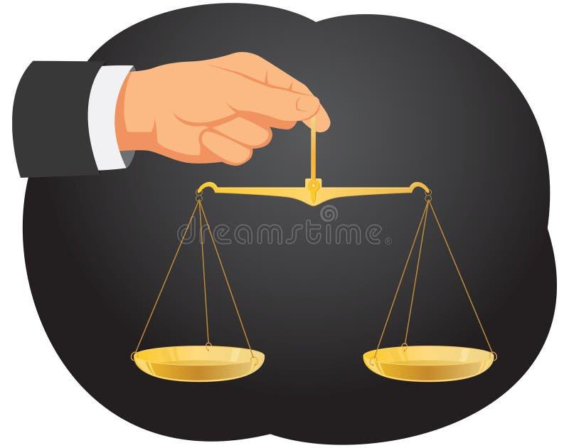 平衡 皇族释放例证