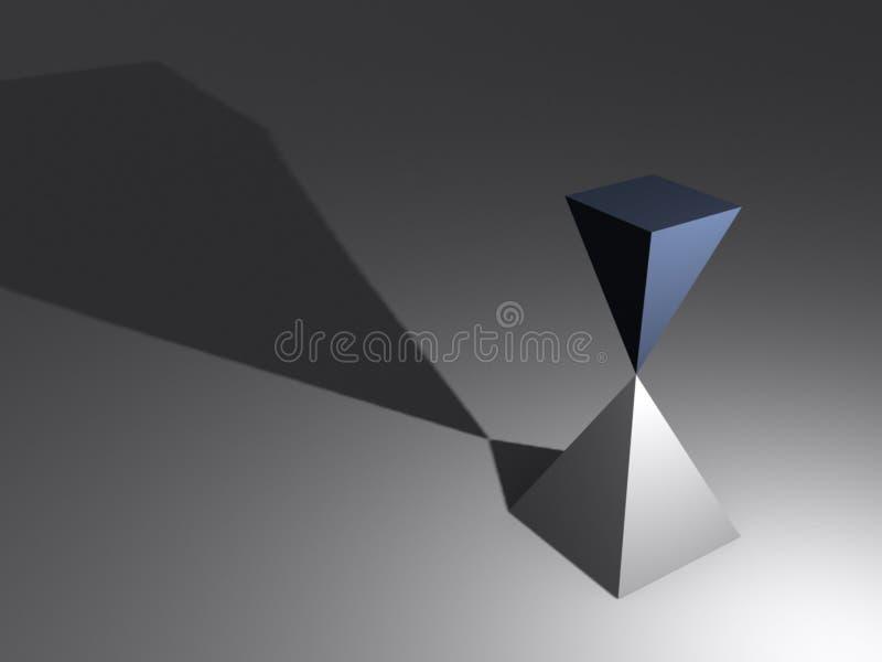 平衡piramids 库存例证