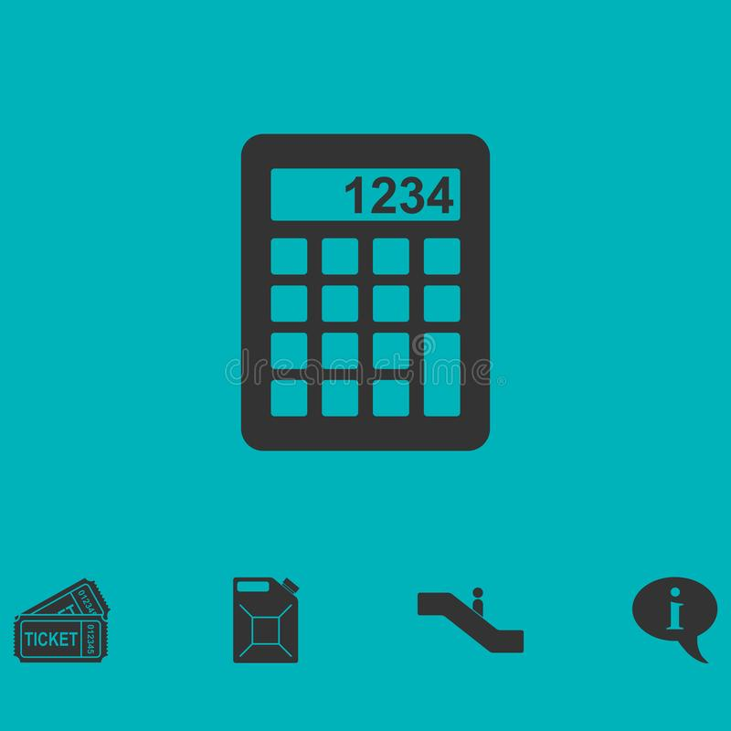 平计算器的象 向量例证