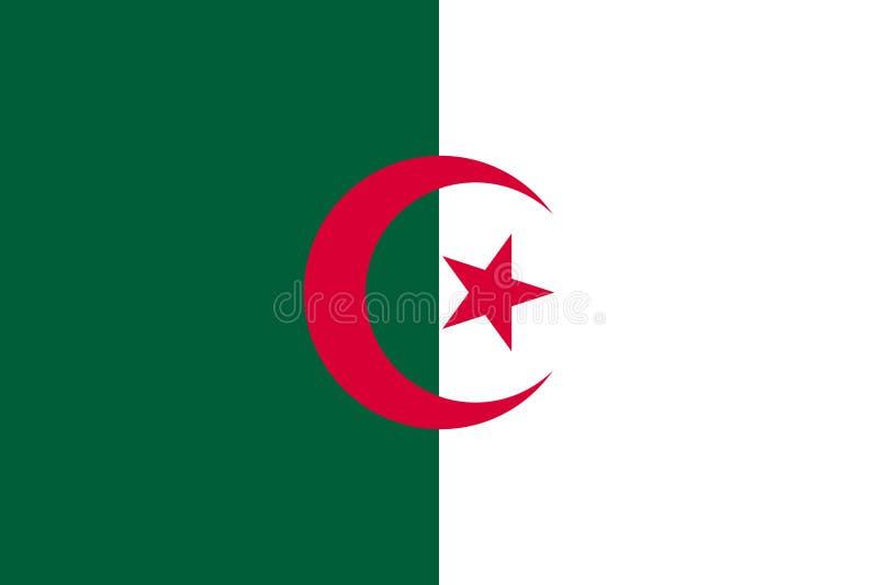 平阿尔及利亚的旗子 向量例证