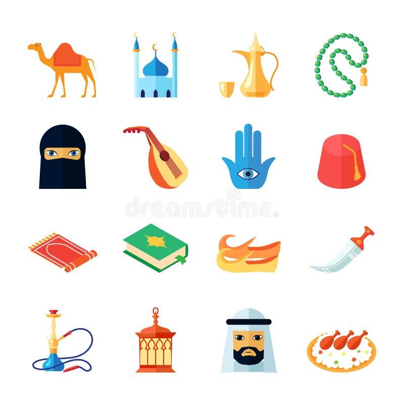 平阿拉伯文化的象 库存例证