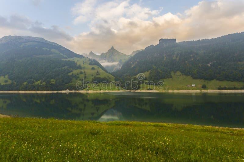 平静的场面在瑞士 图库摄影