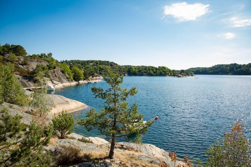 平静的斯堪的纳维亚夏天风景 免版税库存照片