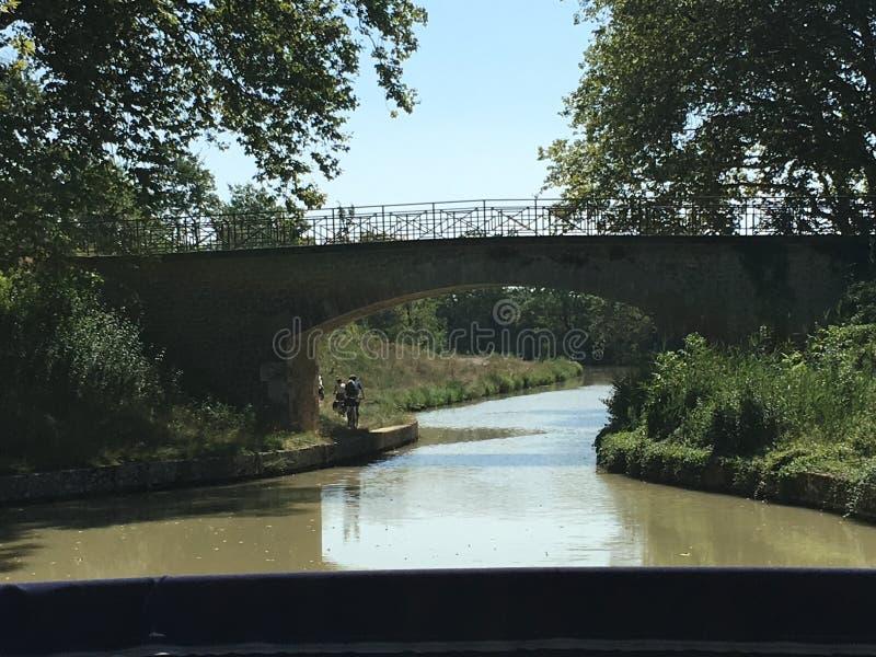 平静的米迪运河 图库摄影