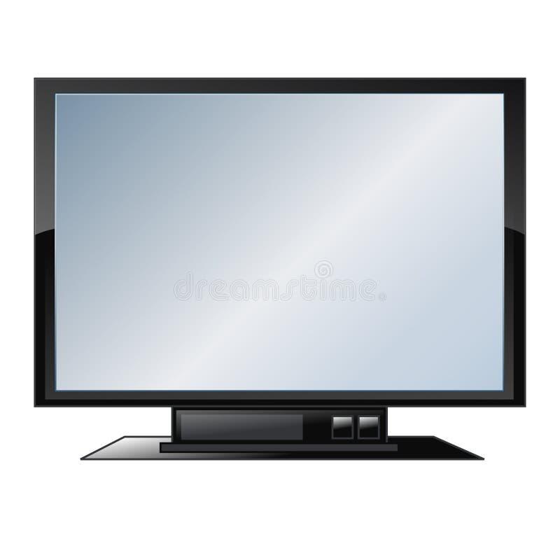 平面屏幕电视向量 皇族释放例证