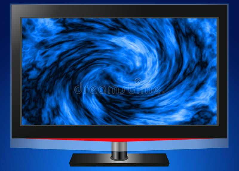 平面屏幕电视 库存例证