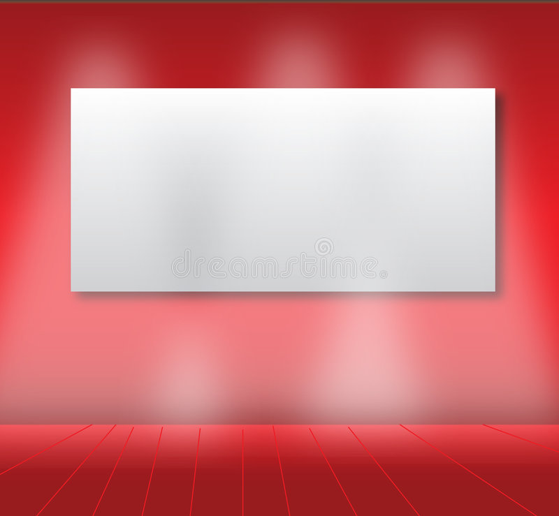 平面屏幕 库存例证