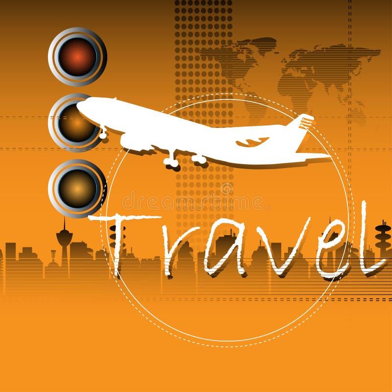 平面旅行 向量例证