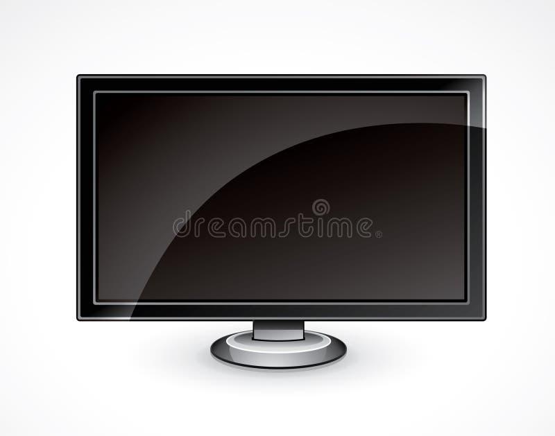 平面的例证面板电视 向量例证