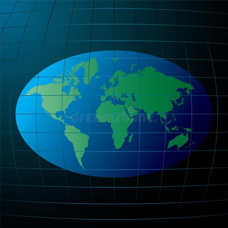平面的地球 库存例证