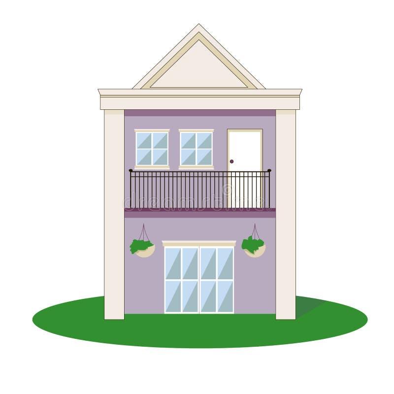 平面的房子 免版税图库摄影