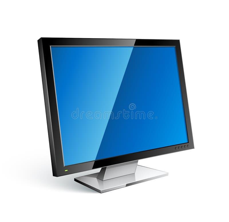 平面的显示器屏幕 皇族释放例证