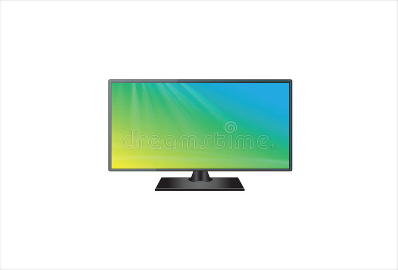 平面的电视面板 向量例证