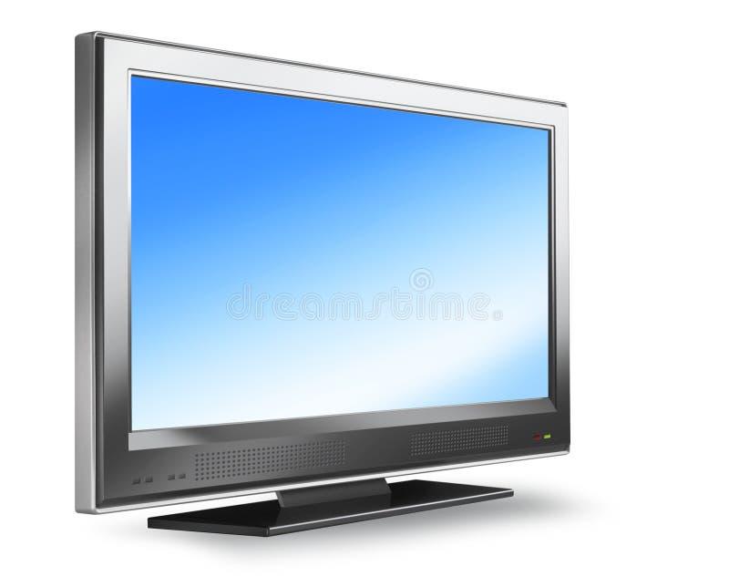 平面的等离子屏幕电视 库存例证