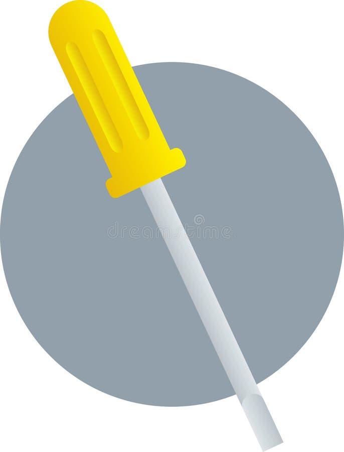 平面的顶头螺丝刀 库存例证