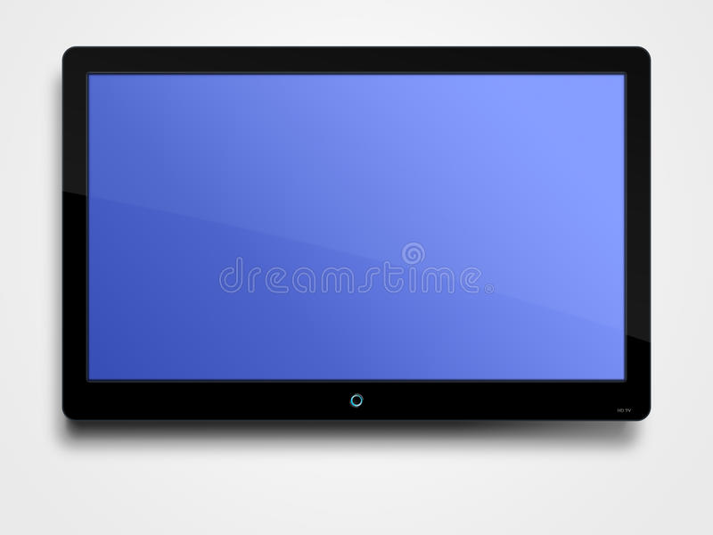 平面的lcd屏幕 向量例证