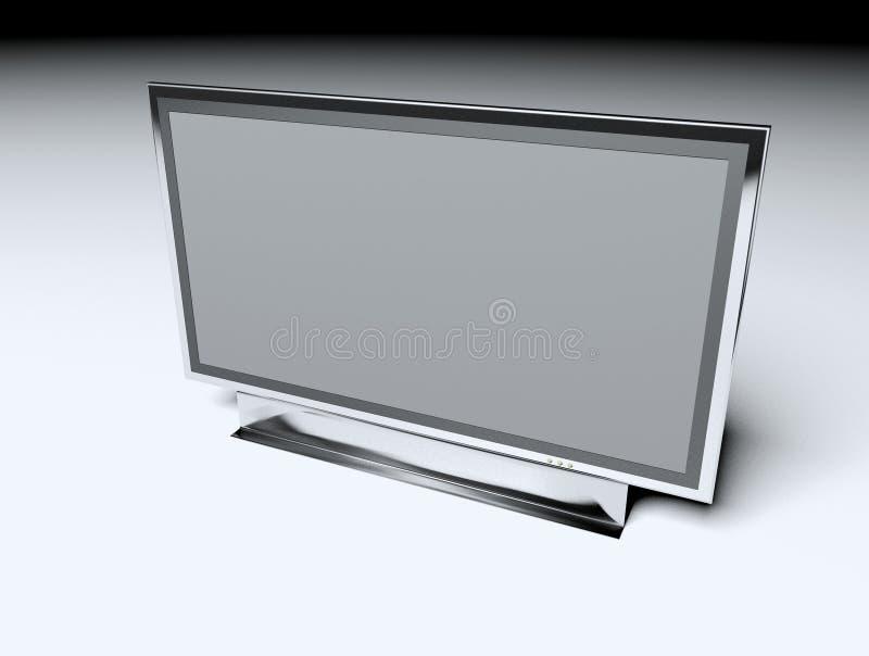 平面的lcd电视 向量例证
