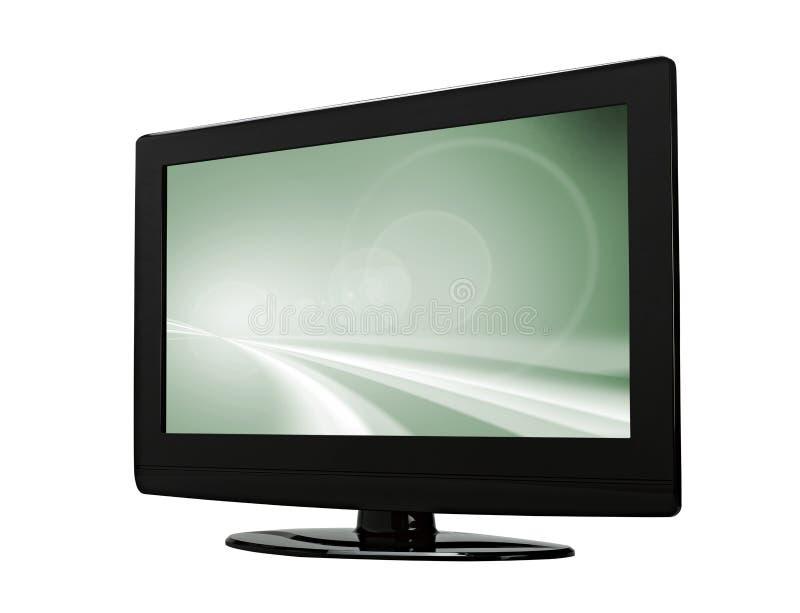 平面的lcd等离子屏幕电视 免版税库存照片