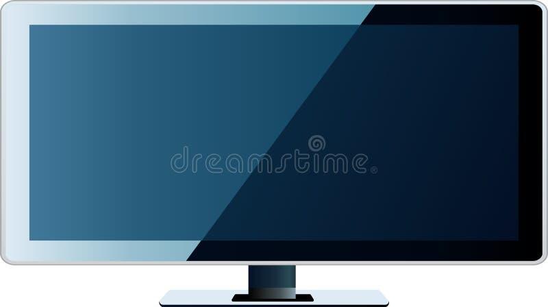 平面的lcd等离子屏幕电视 皇族释放例证