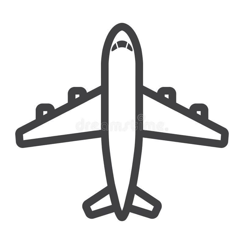 平面线象、运输和航空器 库存例证