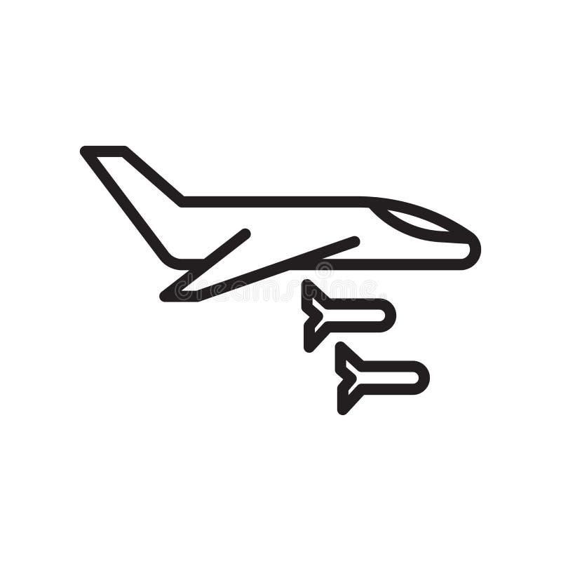 平面象在白色背景隔绝的传染媒介标志和标志,平面商标概念,概述标志,线性标志 库存例证
