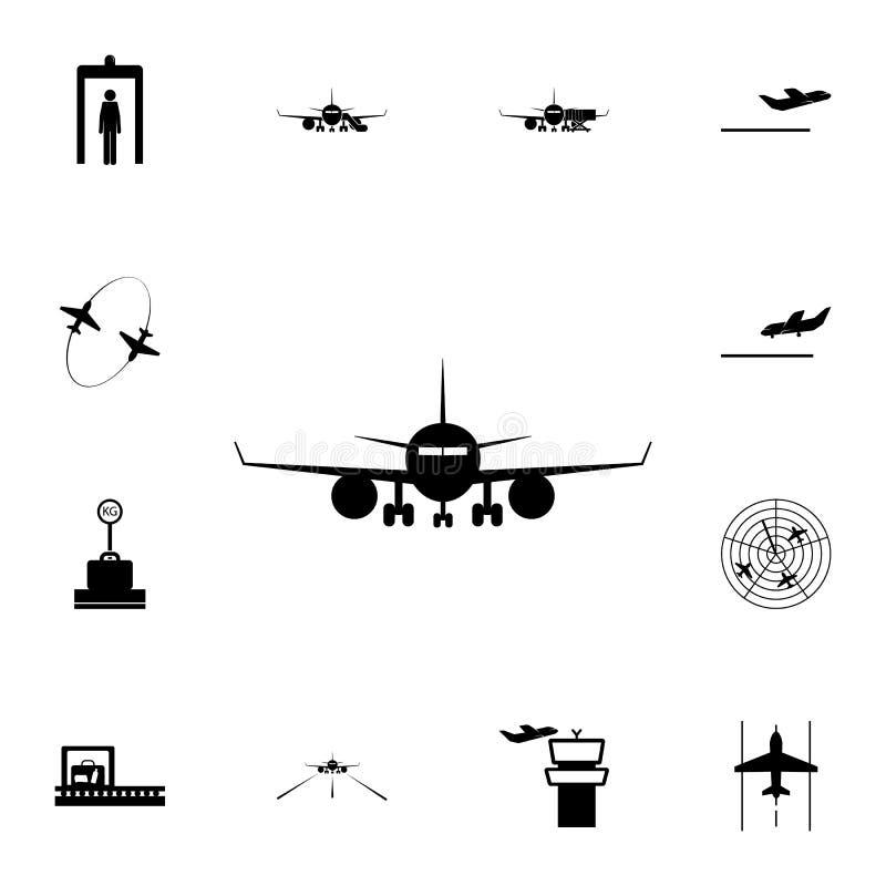 平面象的前面 详细的套机场象 优质质量图形设计标志 其中一个websi的汇集象 库存例证