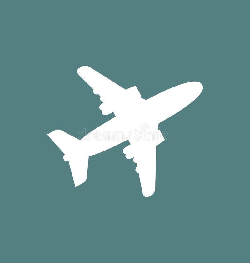 平面象/签到被隔绝的平的样式 飞机飞行标志 库存例证