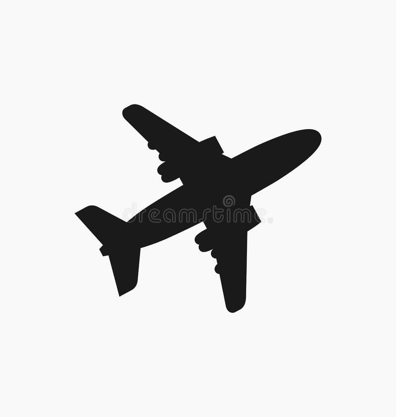 平面象/签到被隔绝的平的样式 飞机飞行标志 皇族释放例证
