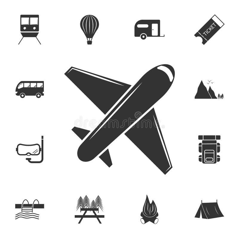 平面象 详细的套旅行象 优质图形设计 其中一个网站的汇集象,网络设计,流动app 库存例证