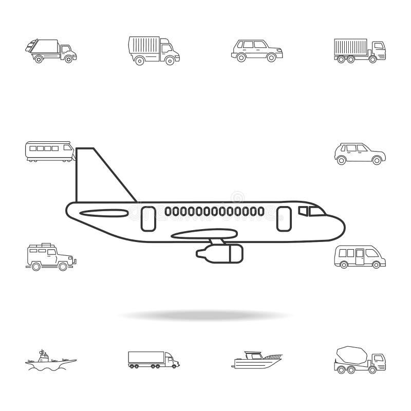 平面象 详细的套运输概述象 优质质量图形设计象 其中一个网站的汇集象 向量例证